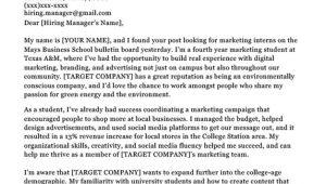 Examples Of Cover Letters for College Students College Student Cover Letter Sample Tips Resume Companion