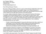 Examples Of Cover Letters for College Students High School Student Cover Letter Sample Guide