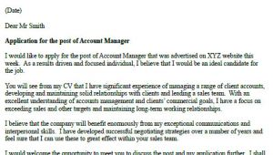 Examples Of Good Cover Letters Uk Account Manager Cover Letter Example Icover org Uk