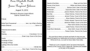 Examples Of Wedding Programs Templates 37 Printable Wedding Program Examples Templates