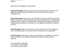 Examples Of Well Written Cover Letters Examples Of A Well Written Cover Letter