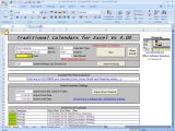 Excel Templates with Macros Officehelp Macro 00037 Traditional Calendars for Excel