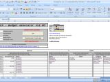 Excel Templates with Macros Officehelp Template 00048 Budgex Budget Generator