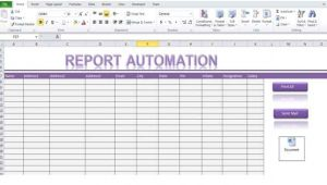 Excel Templates with Macros Report Automation Template Using Excel Macro