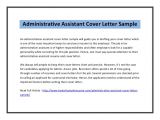 Executive assistant Cover Letter 2014 Administrative assistant Cover Letter Sample