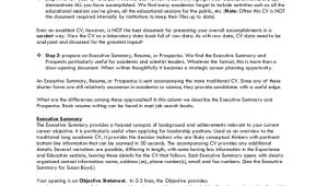 Executive Summary Resume Samples 8 Resume Summary Samples Examples Templates Sample