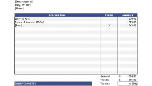 Exel Invoice Template Free Invoice Template for Excel