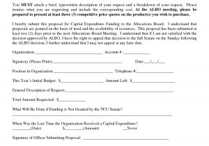 Expenditure Proposal Template Best Photos Of Capital Expenditure Justification Template