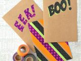 Express Yourself Diy Card toppers 19 Halloween Decorations You Can Diy with Washi Tape Brit Co