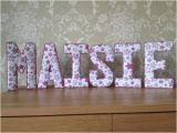Fabric Covered Letters for Nursery Fabric Letters 3d Wall Art Ideal Nursery or