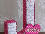 Fabric Covered Letters for Nursery Floral Girls Door Name Plaque Fabric Letters for Nursery