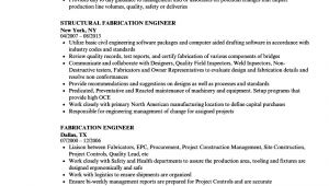 Fabrication Engineer Resume Sample Fabrication Engineer Resume Samples Velvet Jobs