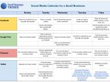 Facebook Posting Schedule Template social Media Calendar Template for Small Business