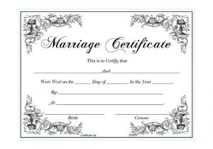 Fake Marriage Certificate Template Fake Marriage Certificate Template Free Gallery