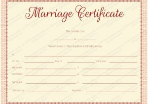 Fake Marriage Certificate Template Maroon Delight Marriage Certificate Template Marriage
