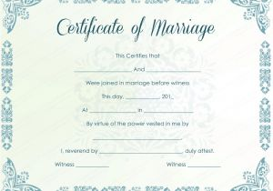 Fake Marriage Certificate Template Mint Colored Marriage Certificate Template