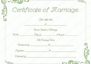 Fake Marriage Certificate Template Standard Marriage Certificate Template Dotxes