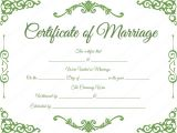 Fake Marriage Certificate Template Traditional Corner Marriage Certificate Template Dotxes