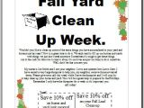Fall Clean Up Flyer Template Backyard Scaping Advertising Ideas for Landscaping Business
