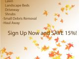 Fall Clean Up Flyer Template Fall Clean Up Flyer What Do You Think Lawnsite