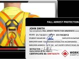 Fall Protection Certification Template Fall Protection Worksite Safety