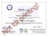 Fall Protection Certification Template Hse Certification