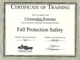 Fall Protection Certification Template Training Certificates Template Choice Image Avery