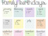 Family Birthday Calendar Template Birthday Calendar Calendar Template Free Premium