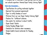 Family Reading Night Flyer Template Buzzing with Ms B Super Family Literacy Night Superhero