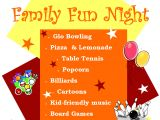 Family Reading Night Flyer Template Family Fun Night Level 1 Game Center Plaster Student