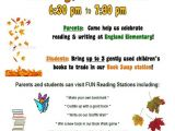 Family Reading Night Flyer Template Family Literacy Night Flyer Google Search Pta Flyers