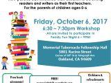 Family Reading Night Flyer Template Memorial Tabernacle Church Family Literacy Night Faith