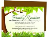 Family Reunion Flyer Template Free Family Tree Reunion Party Invitations Templates