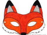 Fantastic Mr Fox Mask Template Printable Animal Masks Craft Kids 39 Crafts Firstpalette Com