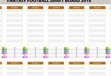 Fantasy Football Email Template Fantasy Football 2016 Draft Board My Excel Templates