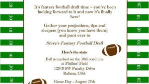 Fantasy Football Email Template Fantasy Football Superbowl Birthday Party Printable Invitation