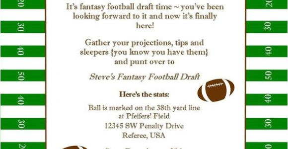 Fantasy Football Email Template Fantasy Football Superbowl Birthday Party Printable Invitation