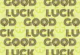 Farewell and Good Luck Card Good Luck Seamless Pattern Farewell Vector Lettering with Lucky