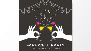 Farewell Card Vector Free Download Farewell Party Free Vector Art 5 Free Downloads