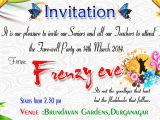 Farewell Greeting Card for Teacher Beautiful Surprise Party Invitation Template Accordingly