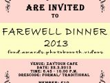 Farewell Invitation Card for Senior Students Quotes Farewell January 2020