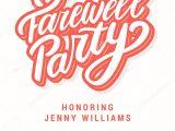 Farewell Party Invitation Card Design Farewell Party Invitation Stock Vector A C Alexgorka 202168998