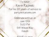 Farewell Party Invitation Card Design Geo Marble Retirement Invitations A Classic Design to