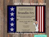 Farewell Party Invitation Card for Teachers Military Going Away Party Navy Farewell Invitation with