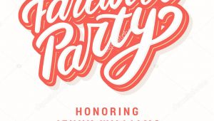 Farewell Party Invitation Card Vector Farewell Party Invitation Stock Vector A C Alexgorka 202168998