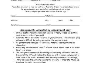 Fashion Designer Contract Template Clothing Consignment Contract Template Scope Of Work