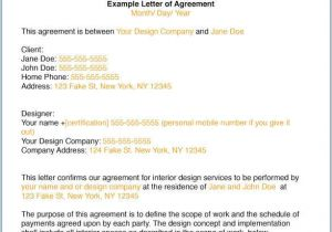 Fashion Designer Contract Template How to Write An Interior Design Letter Of Agreement or