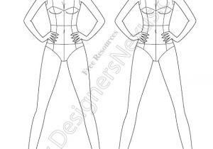 Fashion Designing Templates Free Download Free Download Of Vector Fashion Croqui Template Shows