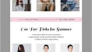 Fashion Email Templates Summer Fashion E Mail Template Email Templates On