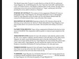 Fashion Model Contract Template Modeling Contract Model Agreement Template form with